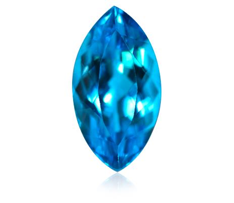 lesk modrého topazu
