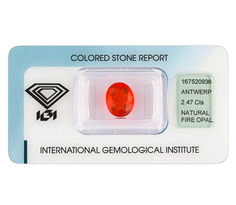 hmotnost ohnivého opálu