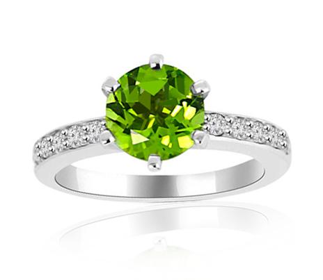 prsten peridot