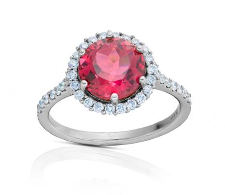 prsten s rhodolitem