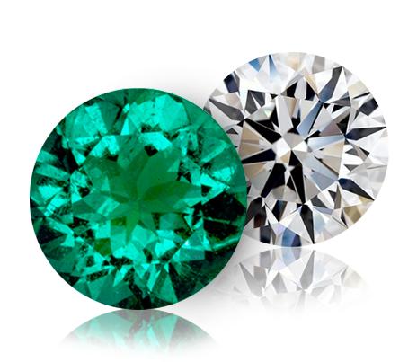 smaragd v porovnání s diamantem