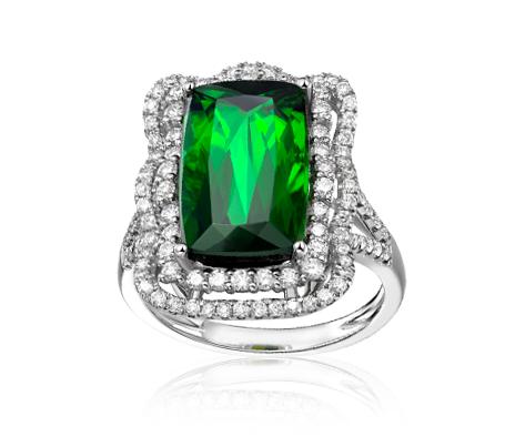 prsten s verdelitem