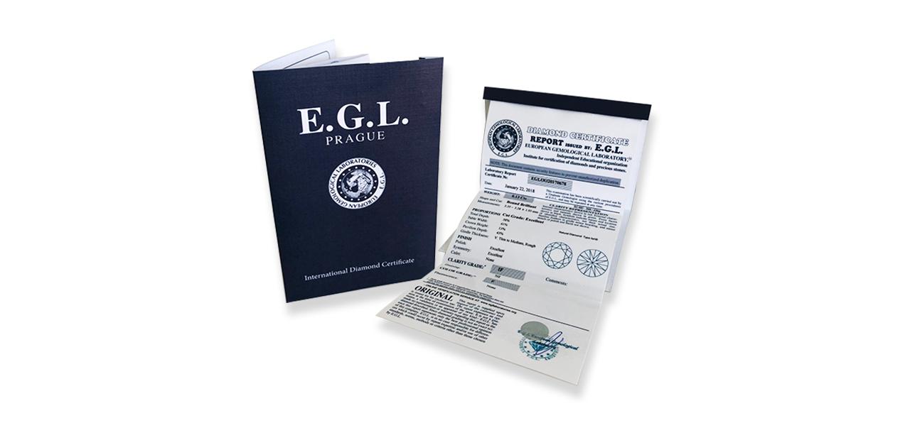 Certifikát EGL Prague
