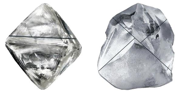 Označování před broušením diamantu