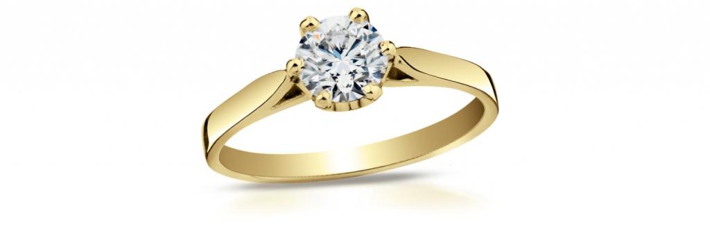 zásnubní prsten s diamantem